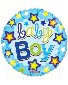"18"" Baby Boy Stars Blue"