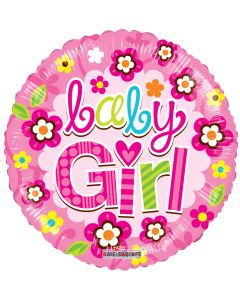 """18"""" Baby Girl Flowers Pink"""