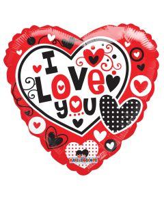 """18"""" Hearts A Poppin' Love"""
