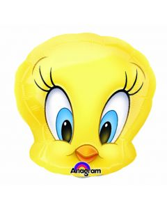 "14"" Tweety Head Inflated with Cup & Stick"