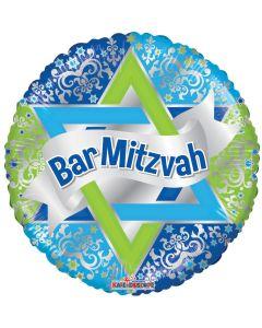 """18"""" Bar Mitzvah Blue"""
