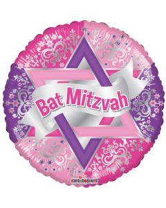 """18"""" Bat Mitzvah Pink"""