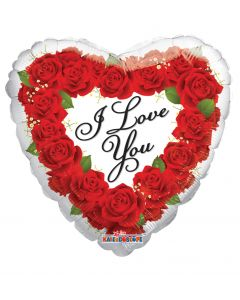 "9"" Love Roses Wreath White"