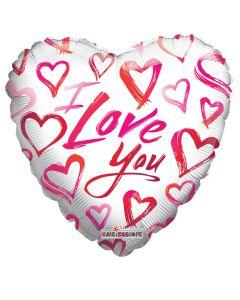 "9"" White Hearts Love"