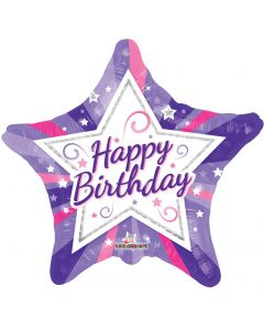 "18"" Birthday Girl Stars"