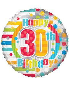 """18"""" B'day Polka Dots 30"""