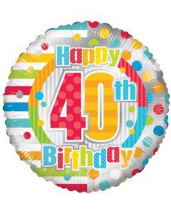 """18"""" B'day Polka Dots 40"""