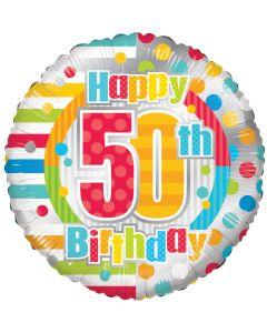 """18"""" B'day Polka Dots 50"""