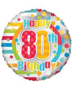 """18"""" B'day Polka Dots 80"""