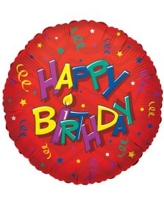 """18""""Happy B'day Candle"""
