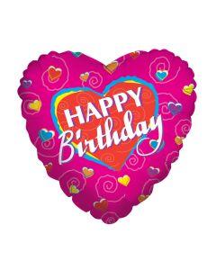 """18""""Birthday Hearts"""