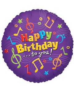 """18""""B'day Music Notes"""