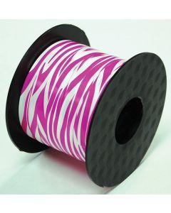 """3/16"""" Pink Zebra Ribbon 200 Yd"""