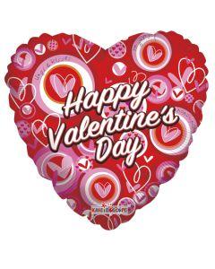 "18"" Valentine Hearts & Circle"