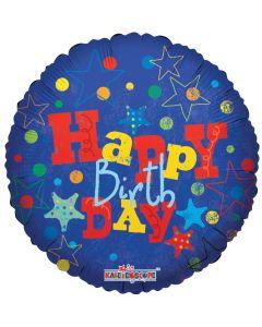 "18"" Happy B'day Stars & Dots"