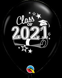 """11"""" Class of 2021 Black 50ct"""