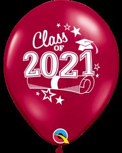 "11"" Class of 2021 Burgundy 50ct"