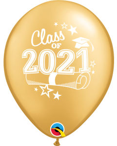"""11"""" Class of 2021 Gold 50ct"""