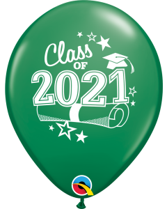 "11"" Class of 2021 Green 50ct"