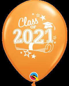 "11"" Class of 2021 Orange 50ct"
