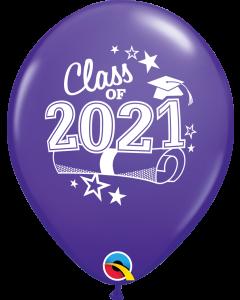 "11"" Class of 2021 Purple Violet 50ct"
