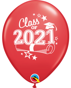 """11"""" Class of 2021 Red 50ct"""