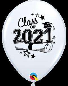 "11"" Class of 2021 White 50ct"