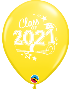 "11"" Class of 2021 Yellow 50ct"
