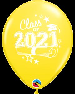 "11"" Class of 2021 Yellow 50ct"