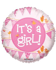 "18"" It's A Girl Pennants"