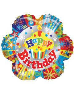 """18"""" B'day Cupcake & Stars"""