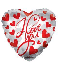 """18"""" I Love You Red Script"""