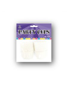 """2"""" White Party Cups 24ct"""