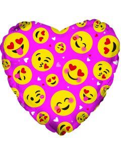 "18"" Emoji Love Faces Pink"