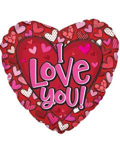 """18"""" Lotsa Hearts Love"""
