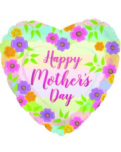 """18"""" Mother's Day Floral Stripes"""