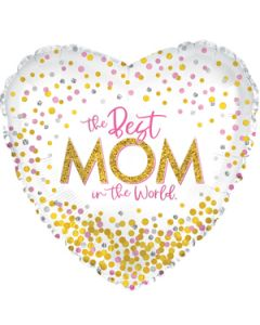 """18"""" Best Mom In The World"""