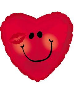 """18"""" Blushing Smiley Red"""