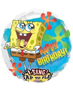 """28"""" SpongeBob B'day Retro Singing Balloon"""