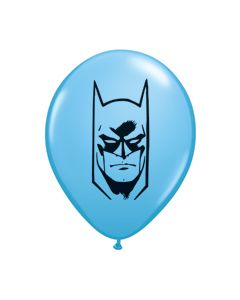 "5"" Batman Face Light Blue 100ct"