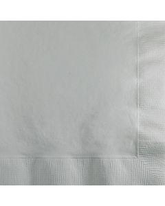 Metallic Silver Bev Naps 50ct