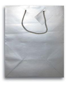 "9.75""X 7.5"" Silver Gift Bag"