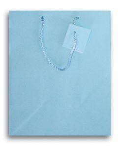 """9.75""""X 7.5"""" Light Blue Gift Bag"""