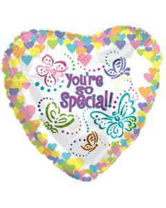 "9"" You're So Special Butterflies Inflated with Cup & Stick"
