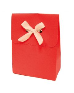 """4.5"""" Paper Gift Boxes Red 6ct"""