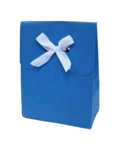 """4.5"""" Paper Gift Boxes Blue 6ct"""