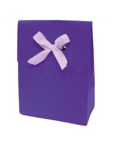 """4.5"""" Paper Gift Boxes Purple 6ct"""