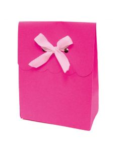 """4.5"""" Paper Gift Boxes Magenta 6ct"""