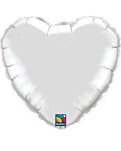 """18""""Silver Heart"""