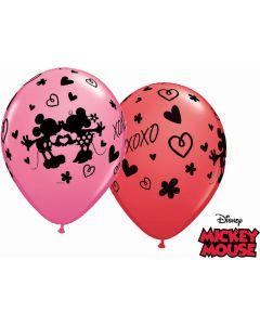 "11"" Mickey & Minnie XOXO 25ct"